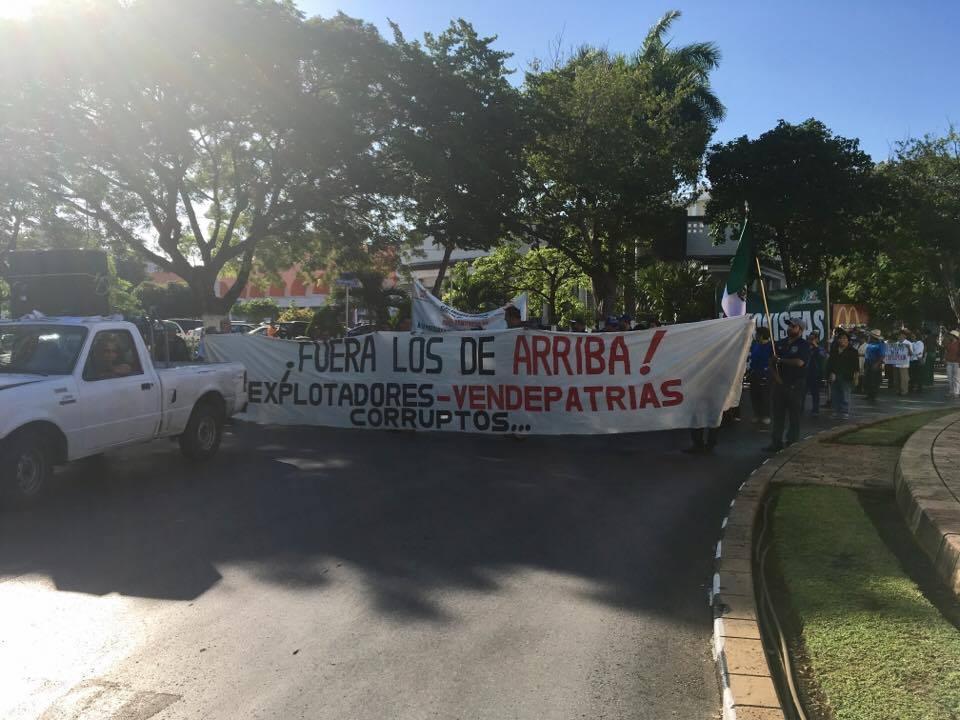 Protesta: 'Pueblo callado, jamás será escuchado'