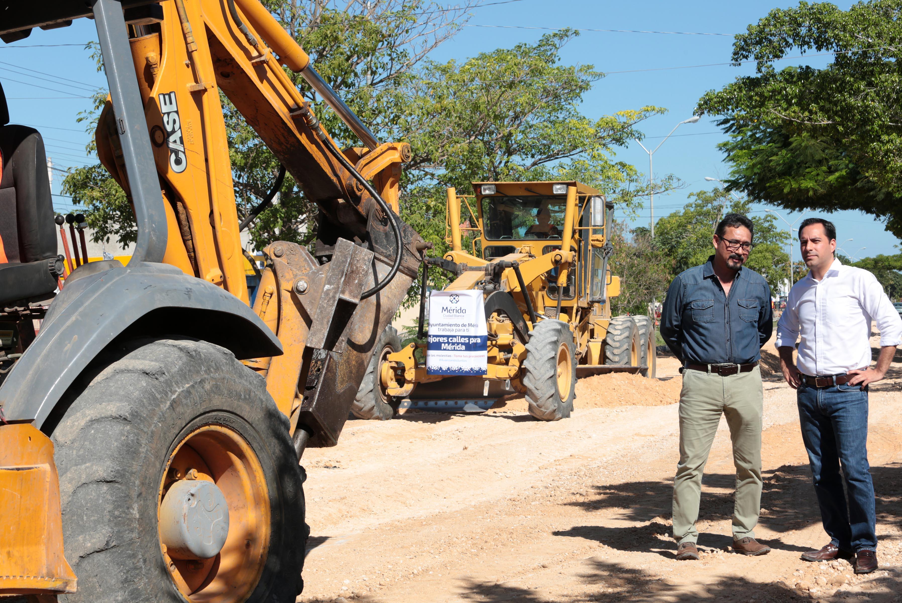 Avanzan obras de infraestructura vial en Mérida
