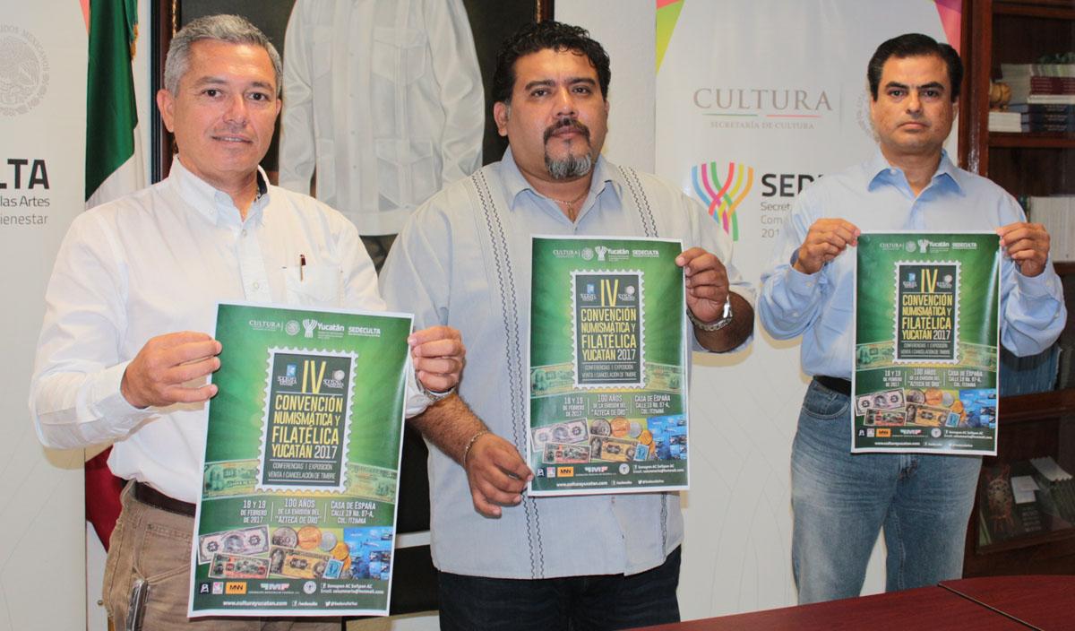 Recibirá Mérida colecciones numismáticas y filatélicasde 3países