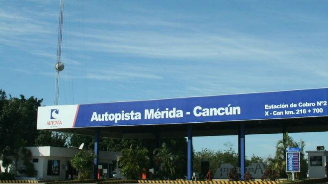 La carretera de cuota Mérida-Cancún tiene nuevas tarifas