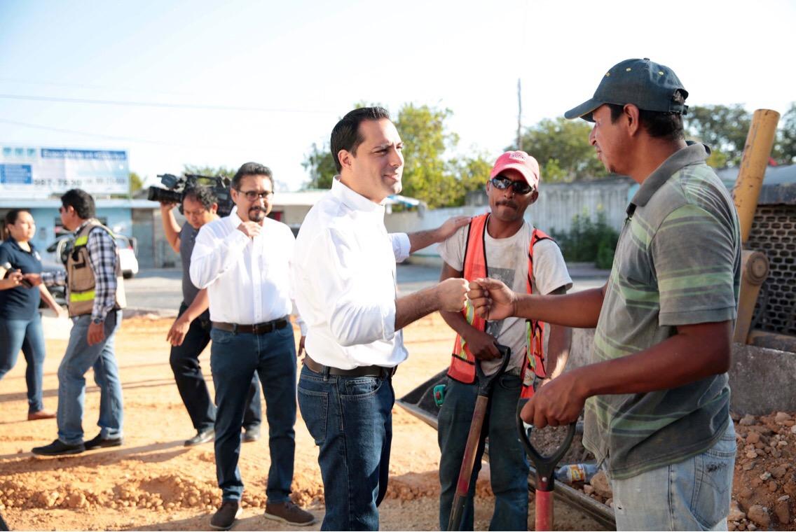 Reconstrucción vialidades en colonias Mérida y Pedregales de Lindavista