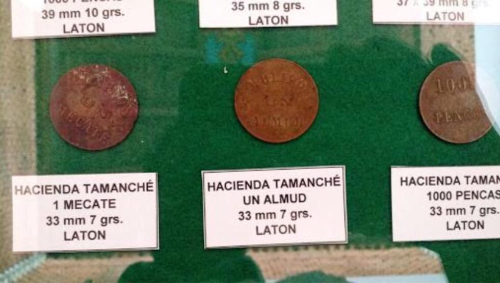 Historia de haciendas de Yucatán, acuñada en monedas