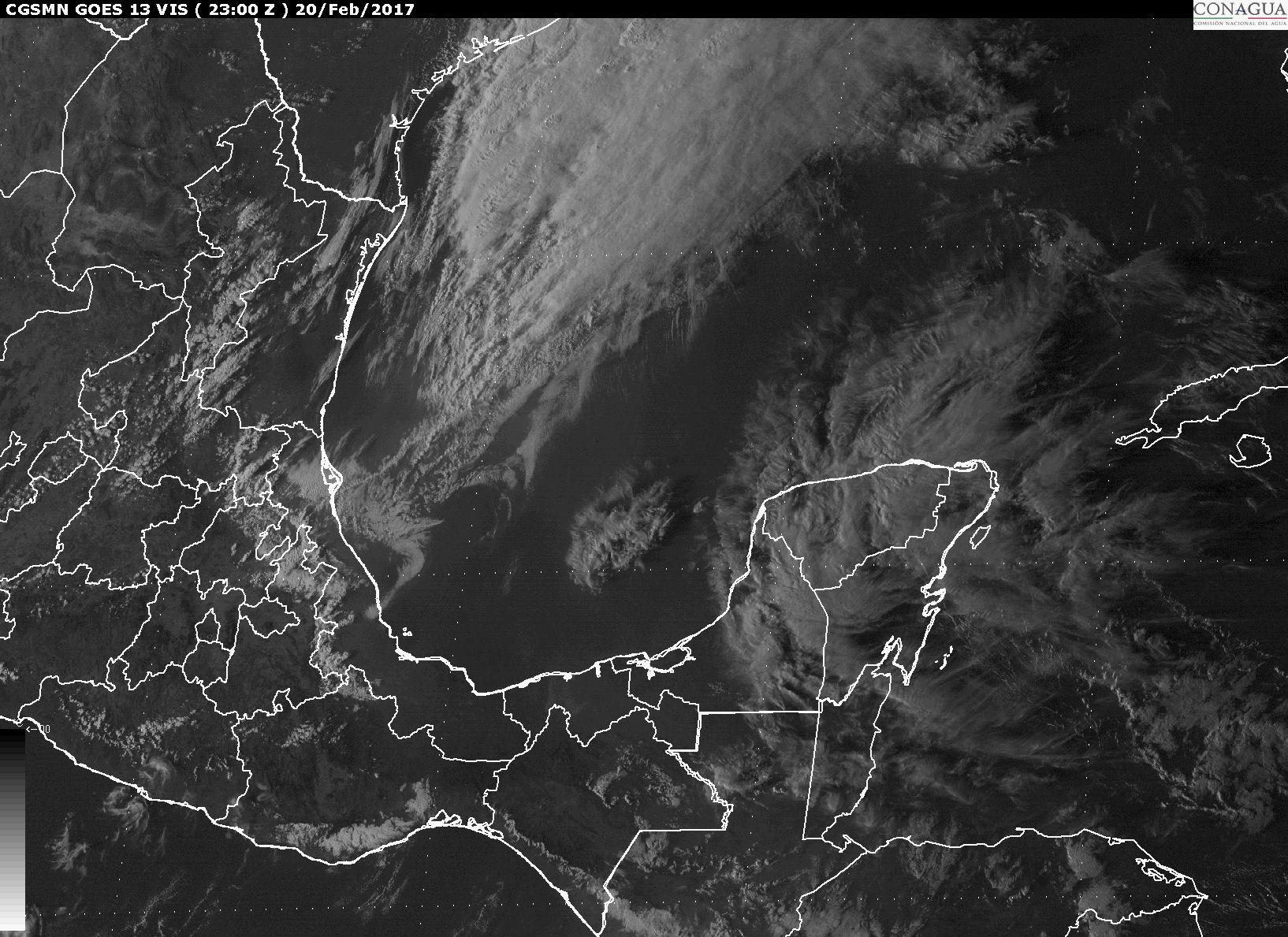 Potencial de lluvias martes y miércoles en Península Yucatán