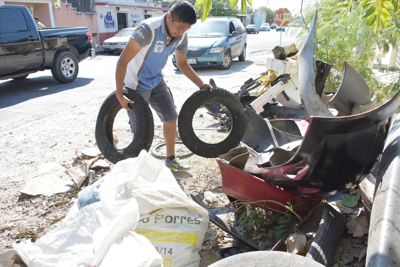 Primer operativo de descacharrización masiva 2017 en Mérida