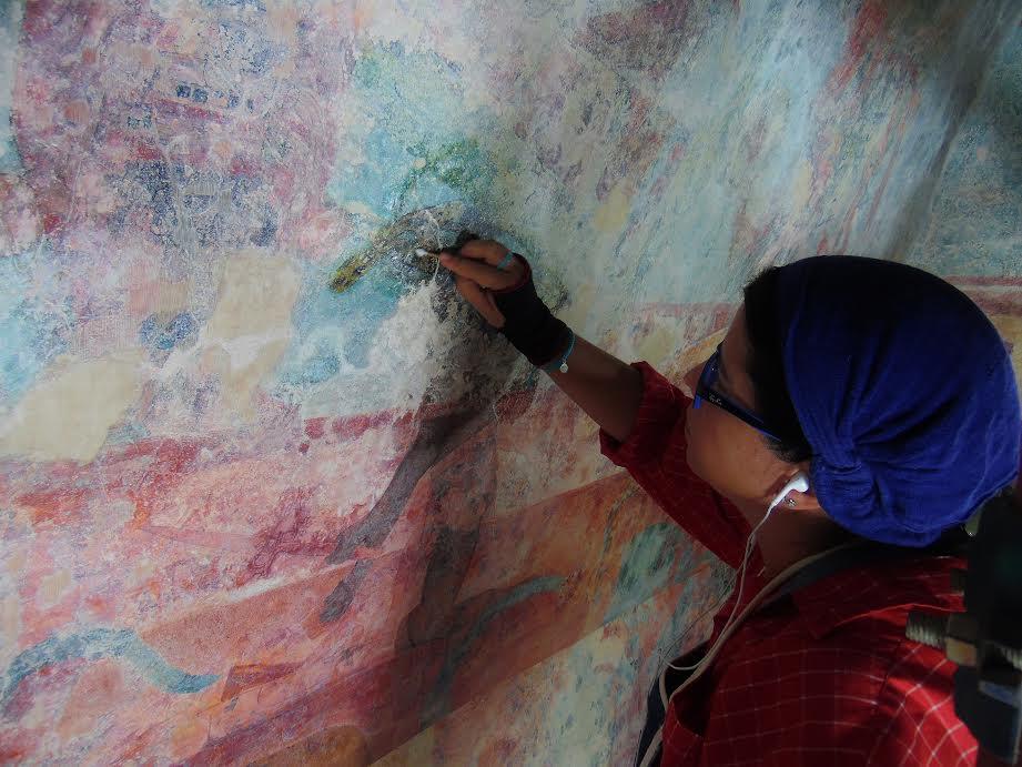 Recobran brillo murales de Cuarto 3 en Bonampak