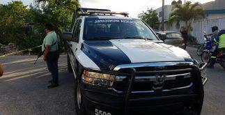 Foto Cancún-policía ejecutado