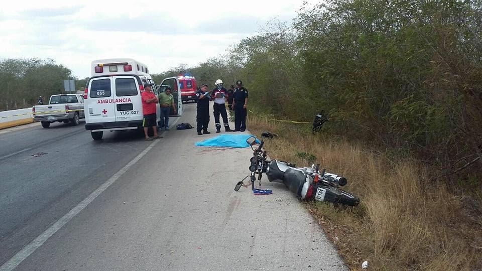 Muere mujer en trágico accidente en motocicleta
