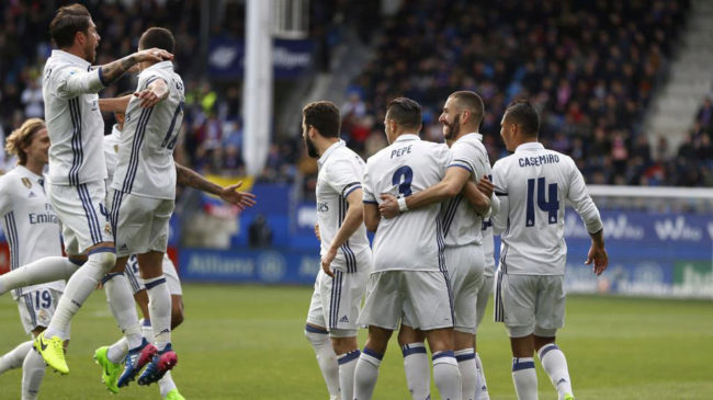 Real Madrid golea a Eibar