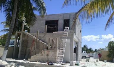 Clausura temporal de desarrollo inmobiliario en Chelem, Yucatán