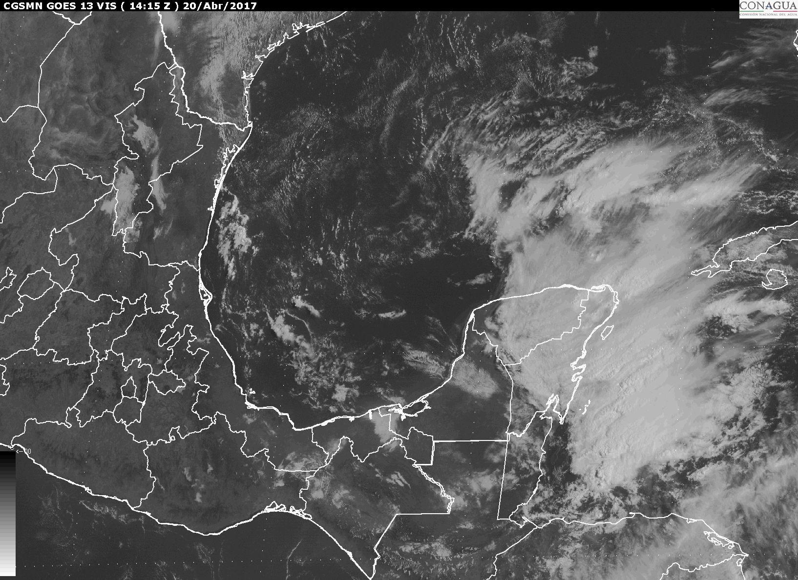 Prevén tormentas muy fuertes en sureste de México