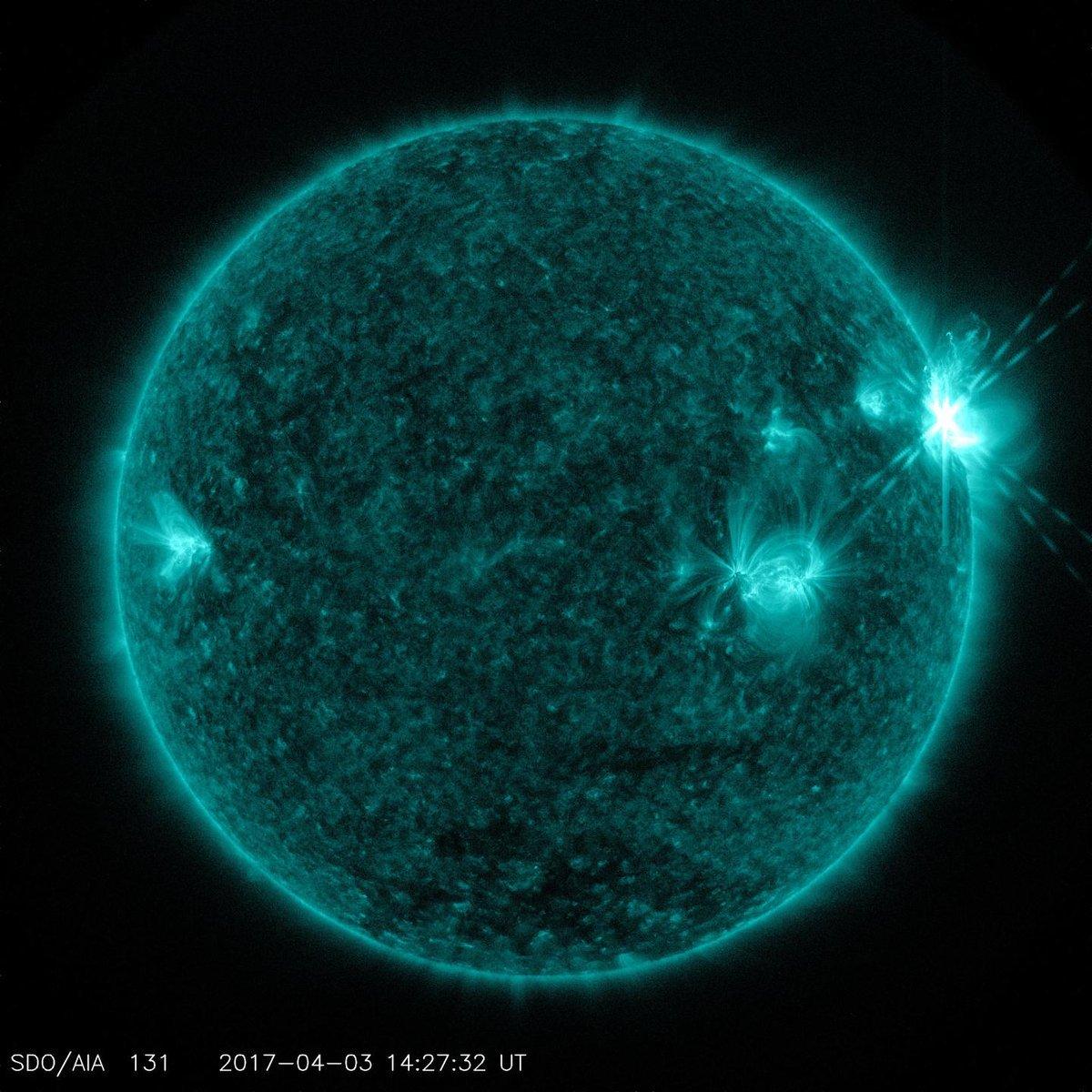 NASA captura imágenes de erupciones solares