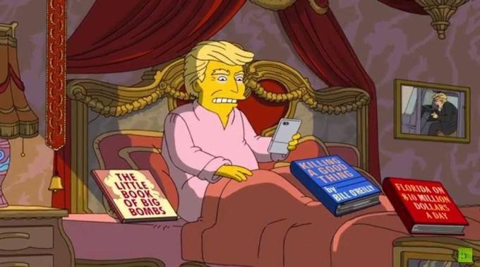 """Se burlan """"Los Simpson"""" de los primeros 100 días de Donald Trump"""