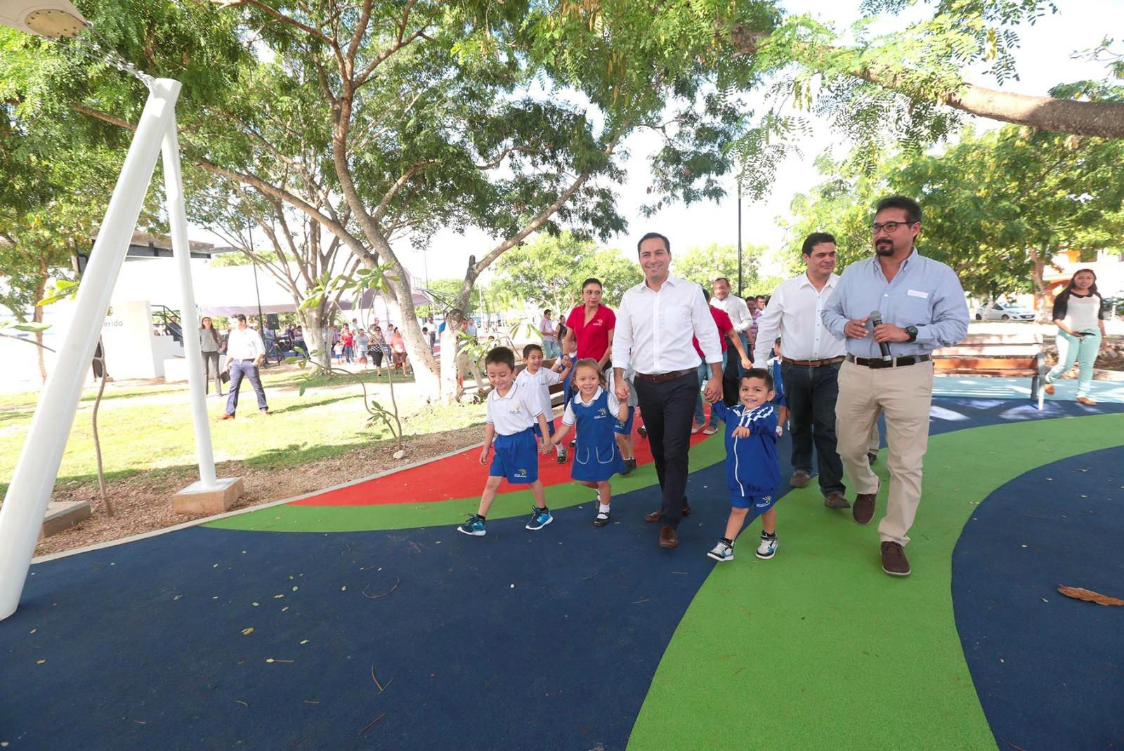 Despliega Ayuntamiento Mérida estrategia para parques públicos