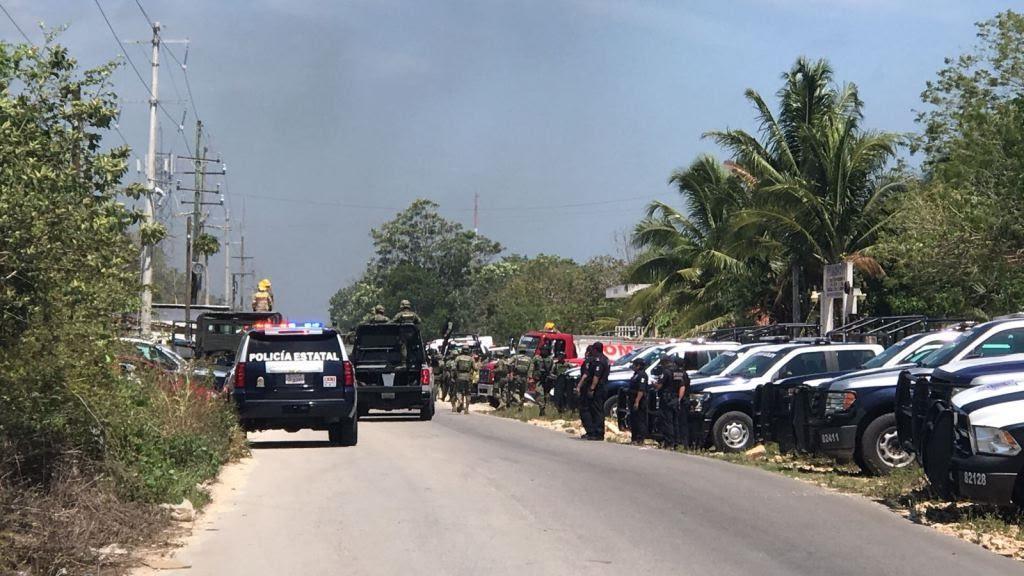 A balazos 'aplacan' trifulca en penal de Playa del Carmen