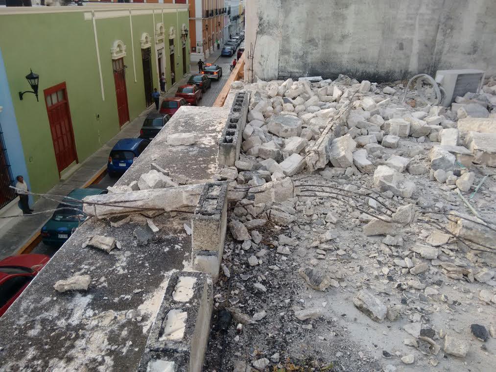 Saldo de la turbonada en el estado de Campeche
