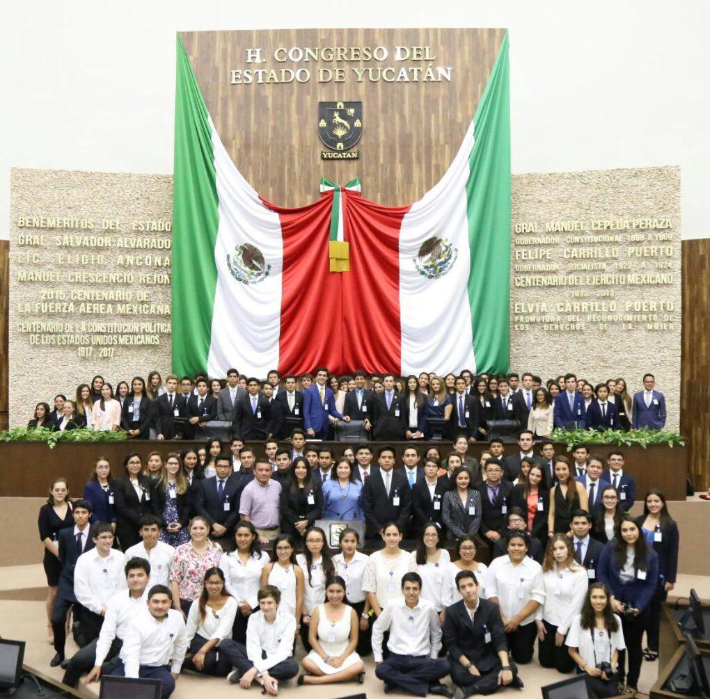 Congreso Yucatán, sede de Modelo Juvenil de Naciones Unidas