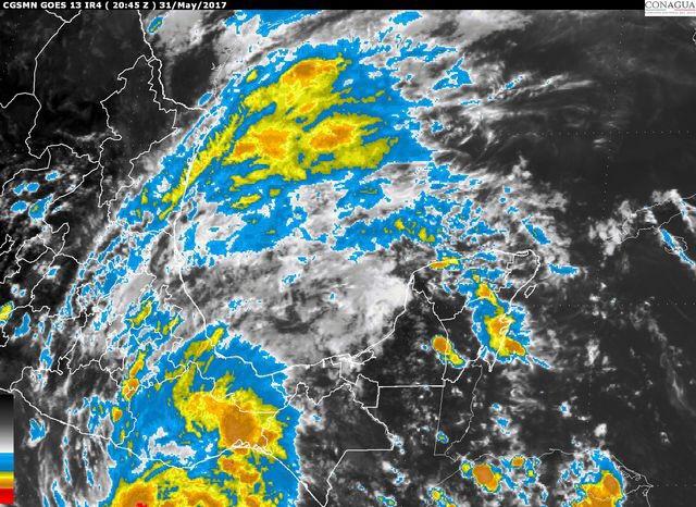 Elevado potencial de lluvias en Península de Yucatán