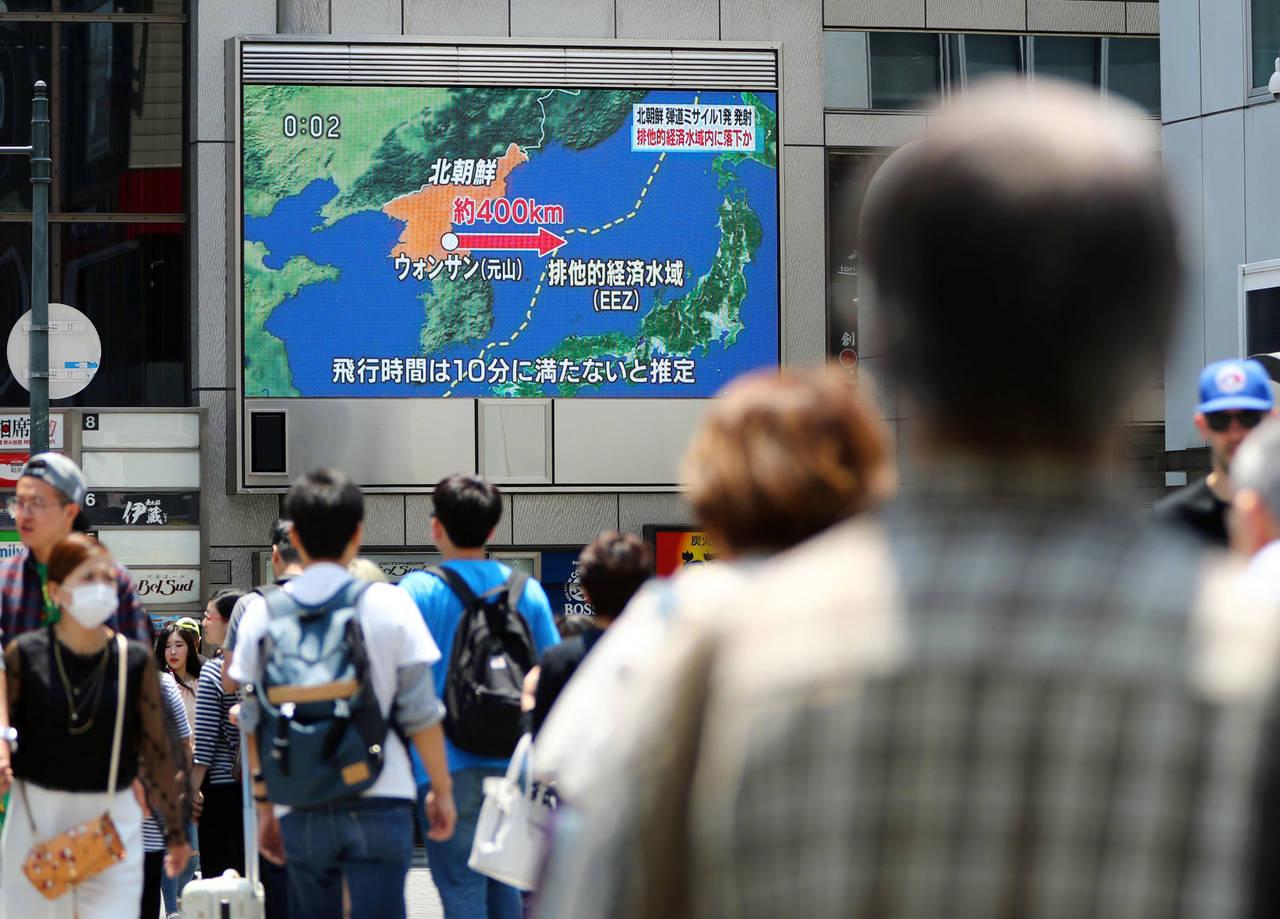 Norcorea dispara misil; cae en Japón