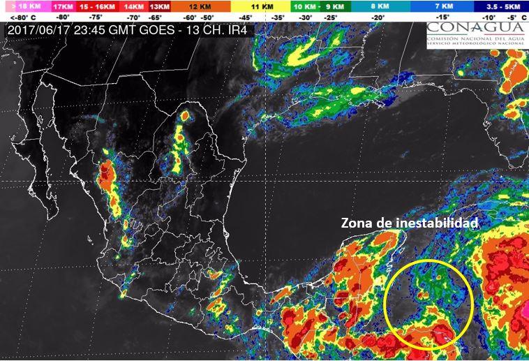 Sube potencial de evento ciclónico en Península Yucatán