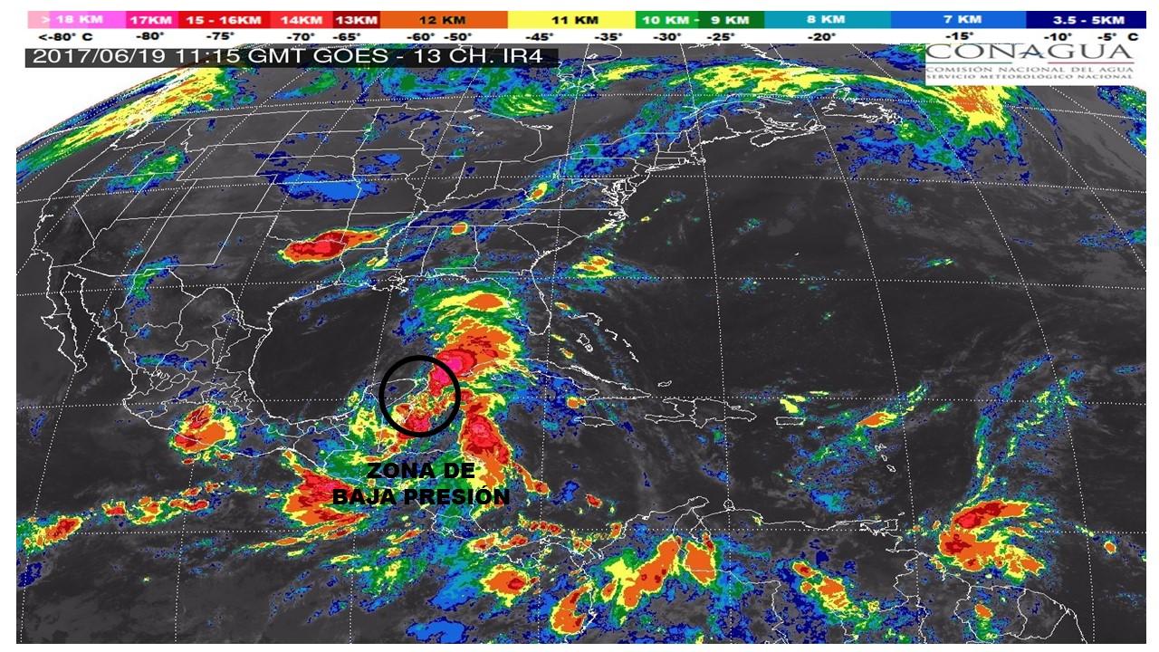 Elevado potencial de ciclón en Península de Yucatán