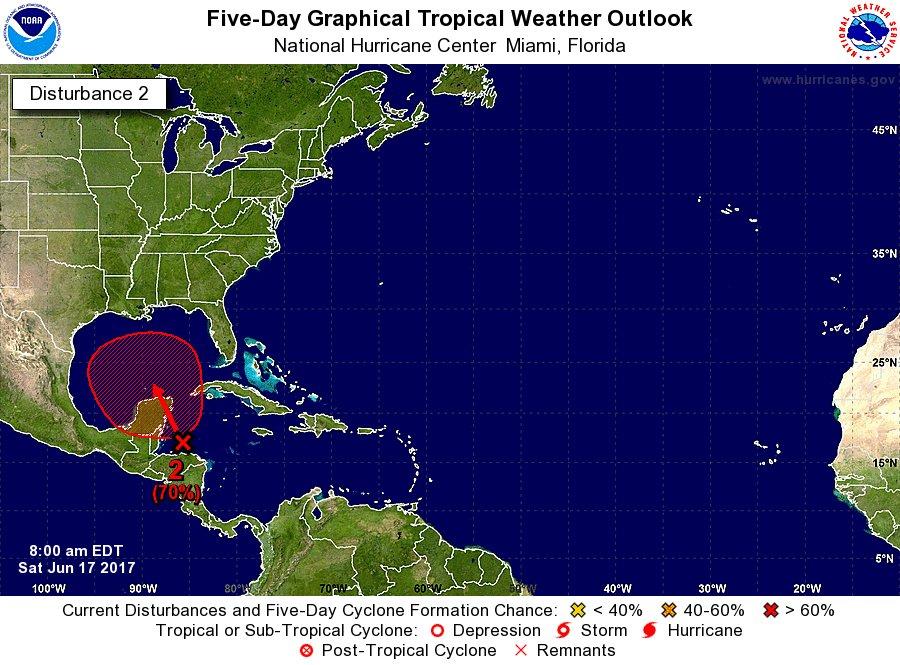Baja presión al sureste de QRoo arrojará más lluvia