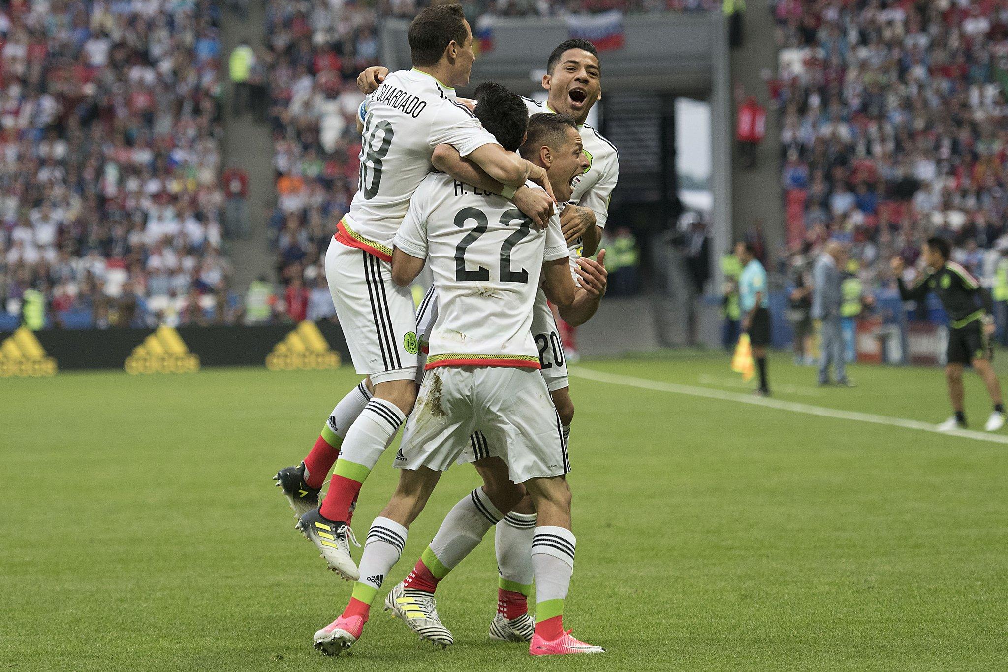 México vence a Rusia y avanza a Semifinales de Copa Confederaciones