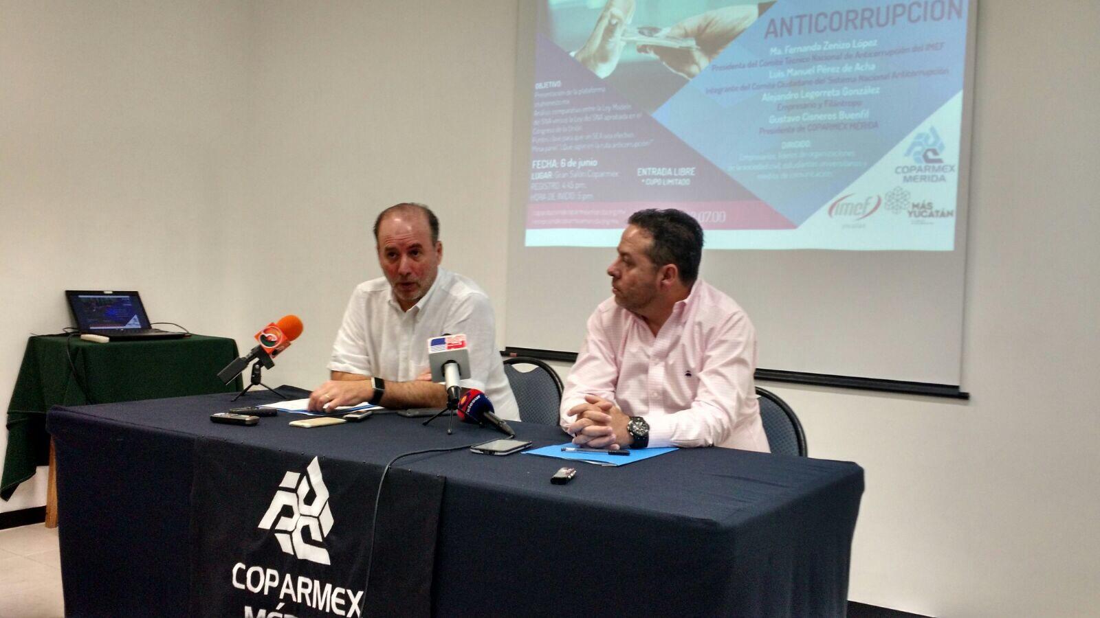 Presiona Coparmex-Yucatán definición de Sistema Anticorrupción