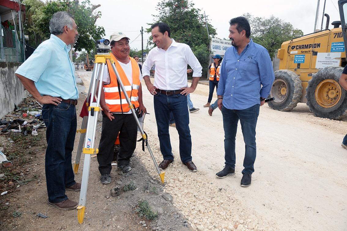 Obras de rehabilitación de la calle 21 de Chuburná
