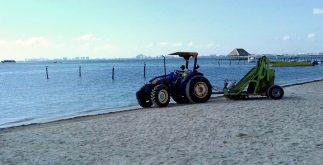 limpieza de playas en cancun