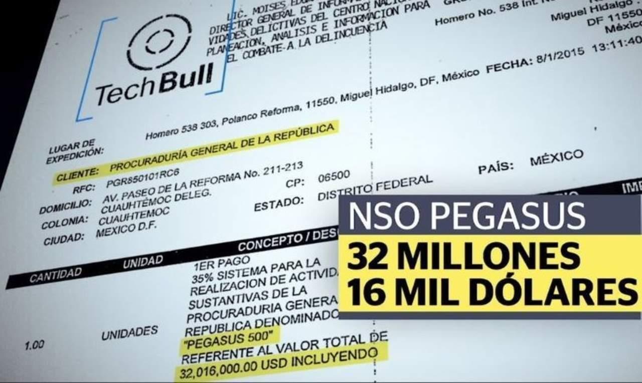 Revelan contrato de compra de 'Pegasus', software espía