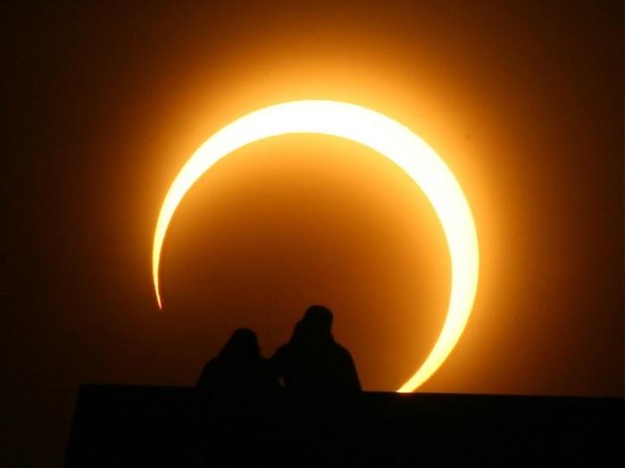 Próximo espectáculo de eclipse parcial de sol