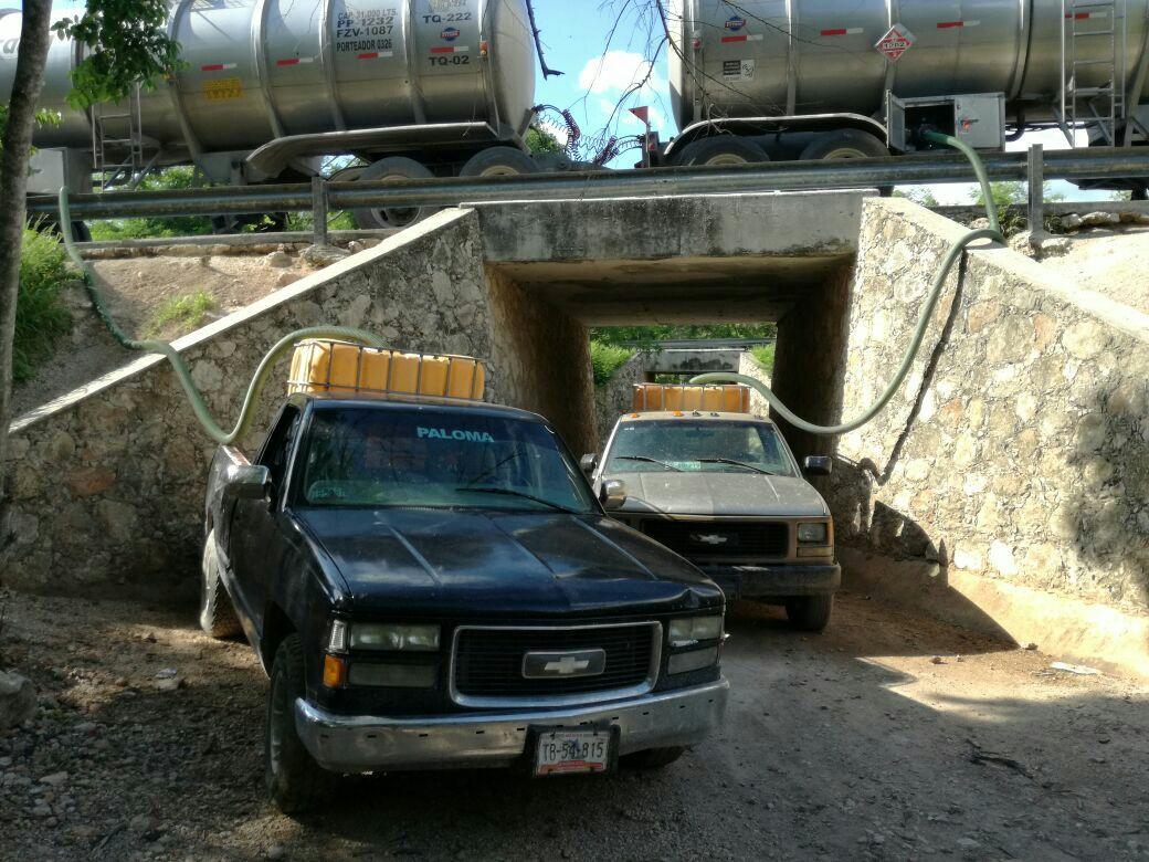"""Interceptan a """"huachicoleros"""" en la Mérida-Cancún"""