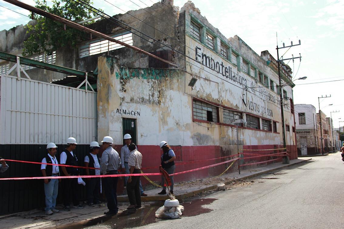 Tirarán sección de muro de 'edificio Sidra Pino'