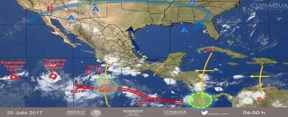 Se eleva potencial de ciclones en costas mexicanas
