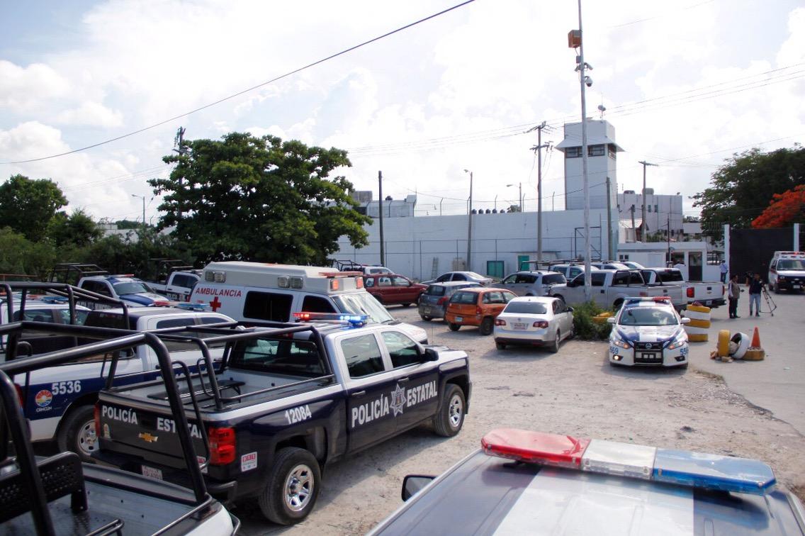 Violentas riñas en penal de Cancún con 7 lesionados