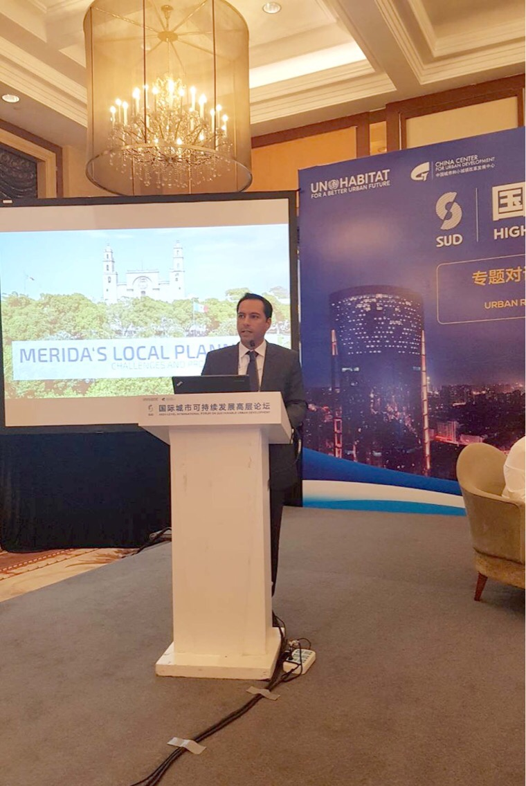 Llevan a China integración de Mérida a Agenda Urbana de ONU