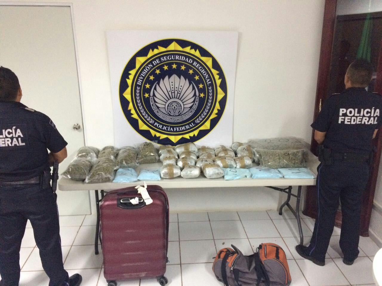 Regresaba del Caribe Mexicano con marihuana en las maletas