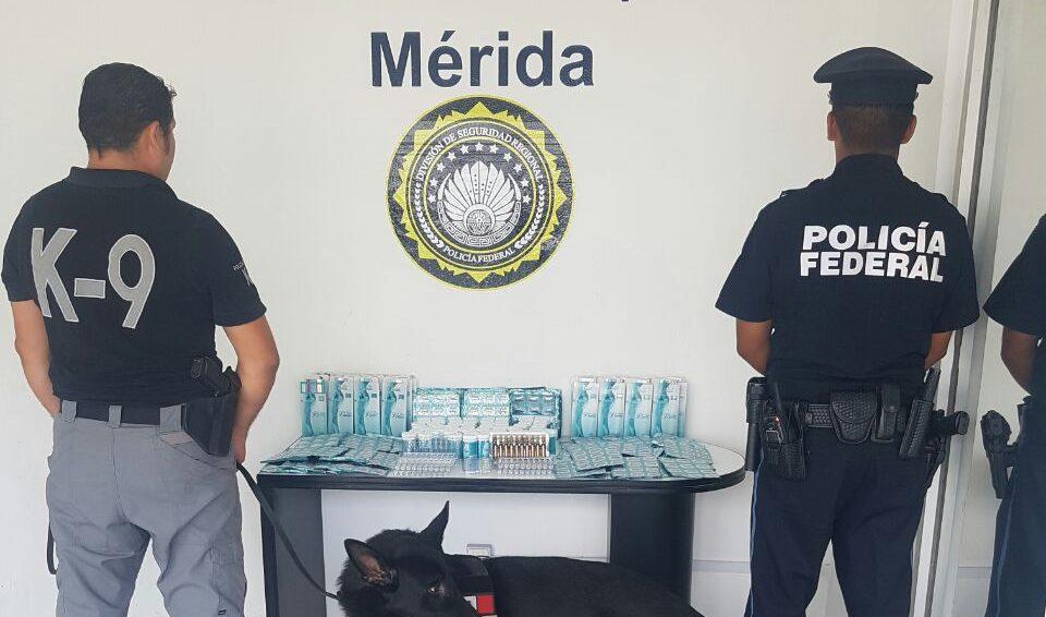 Interceptan productos 'ilegales' en Aeropuerto Mérida