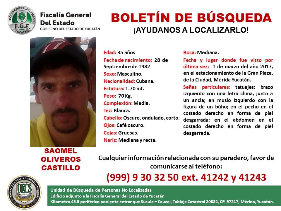 Reportan a cubano en calidad de extraviado en Yucatán