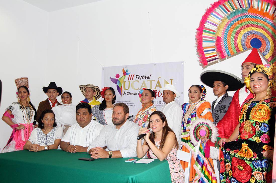 Tercer Festival Yucatán Danza Folklórica, con grupos de Colombia y México