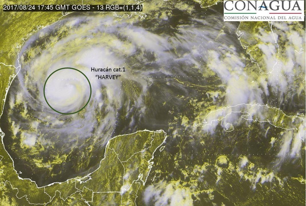 """Evoluciona """"Harvey"""" a huracán en ruta a Texas"""