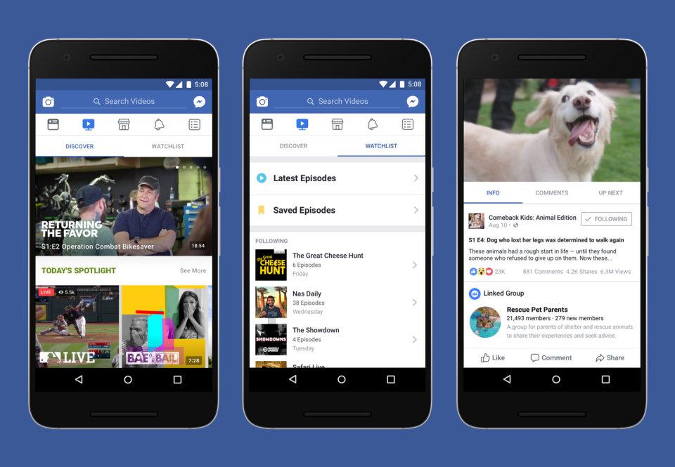 Watch, el arma de Facebook para superar a YouTube