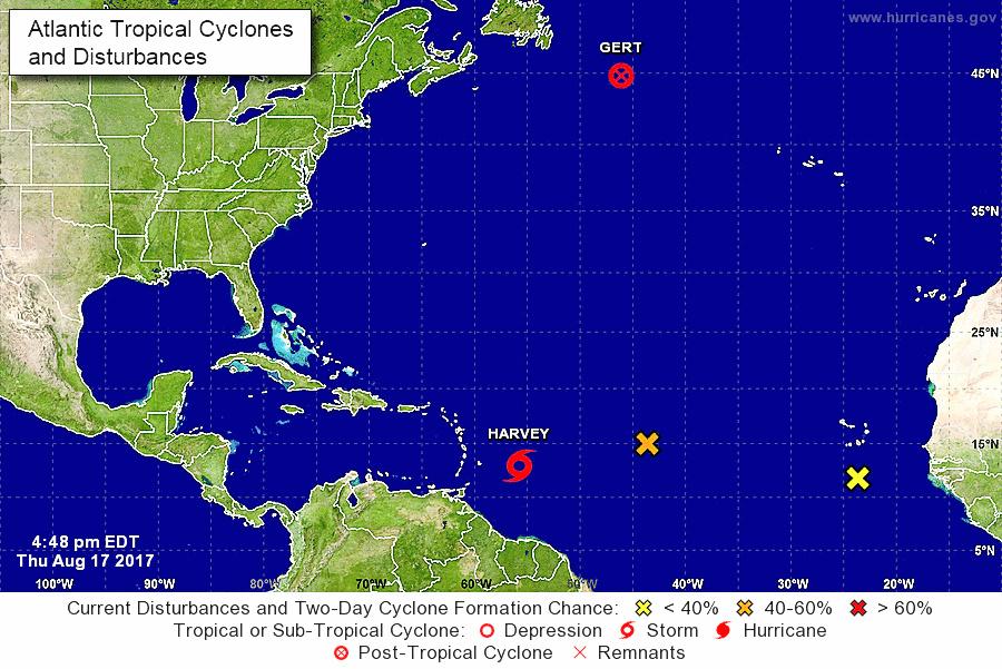 """Nace la tormenta tropical """"Harvey"""" en el Atlántico"""