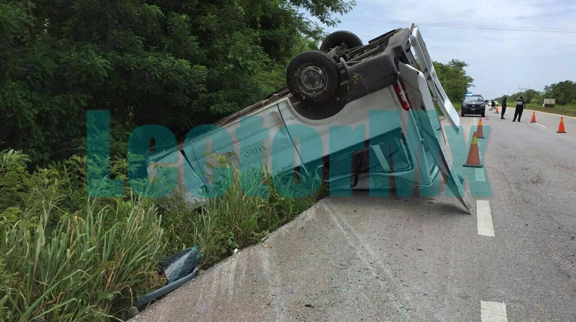 Accidenta empleado de SSY previo a gira de Rosario Robles