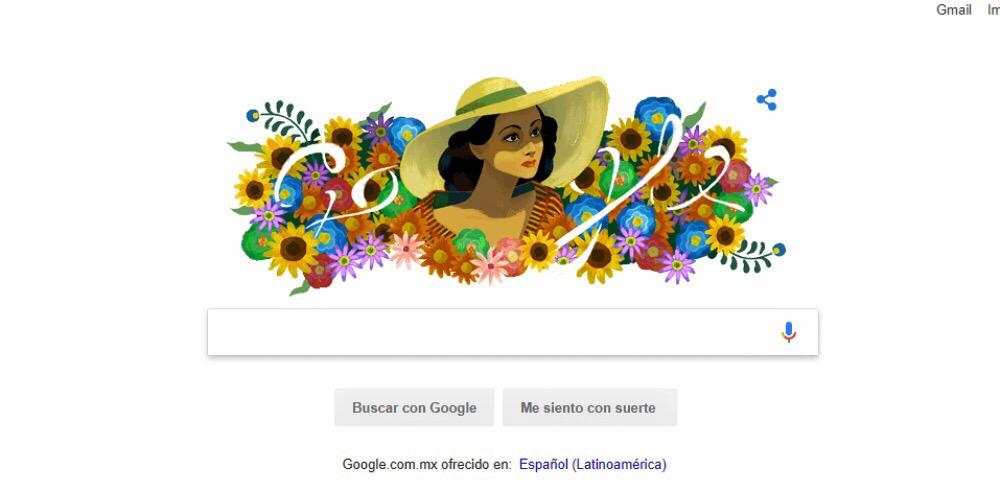 """Celebra Google con """"doodle"""" a la actriz Dolores del Río"""