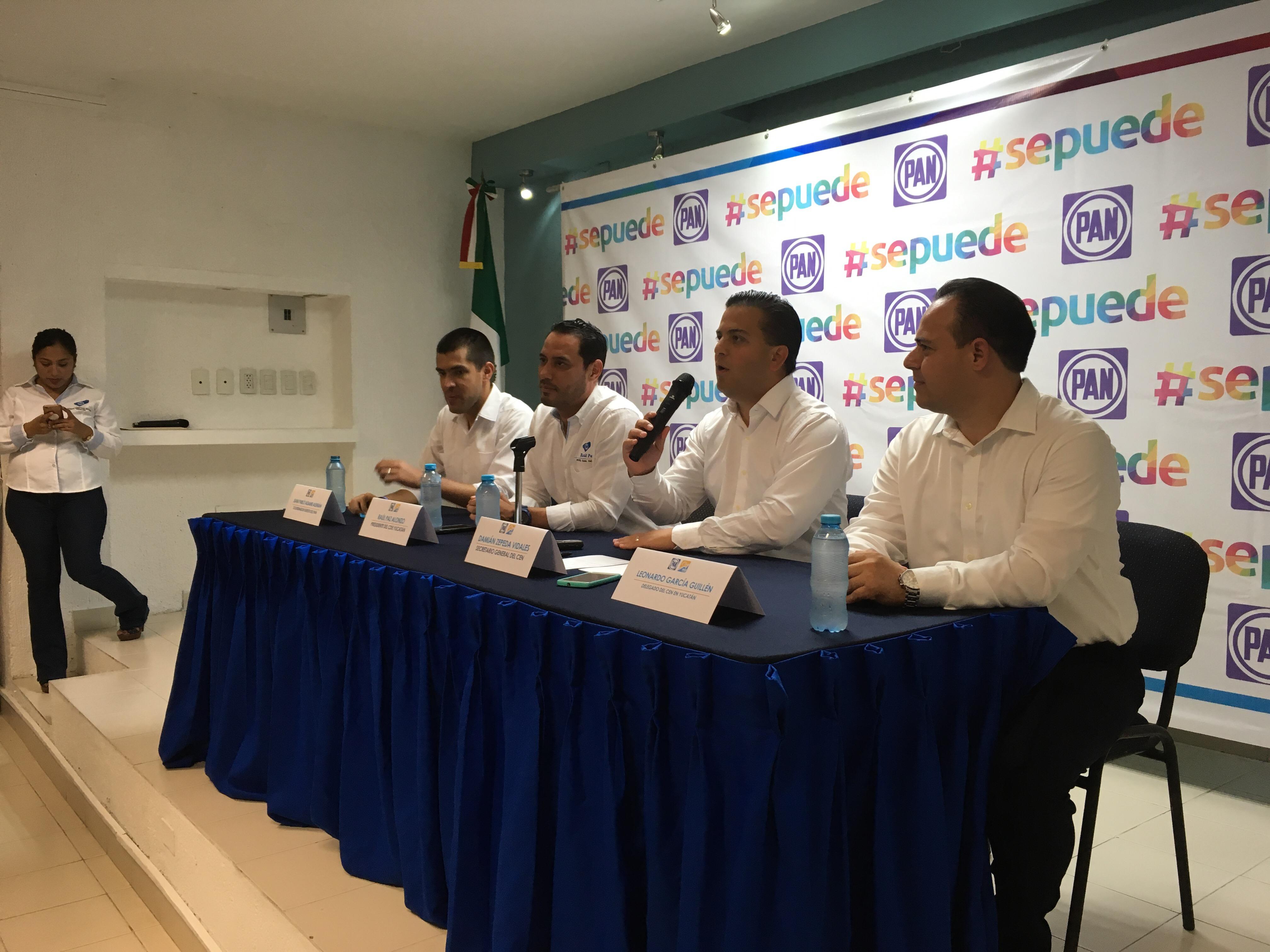 Controlará CEN del PAN proceso interno en Yucatán