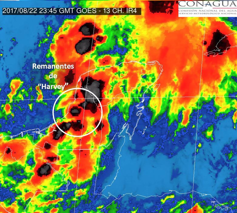 De los restos de 'Harvey' surgiría otro ciclón