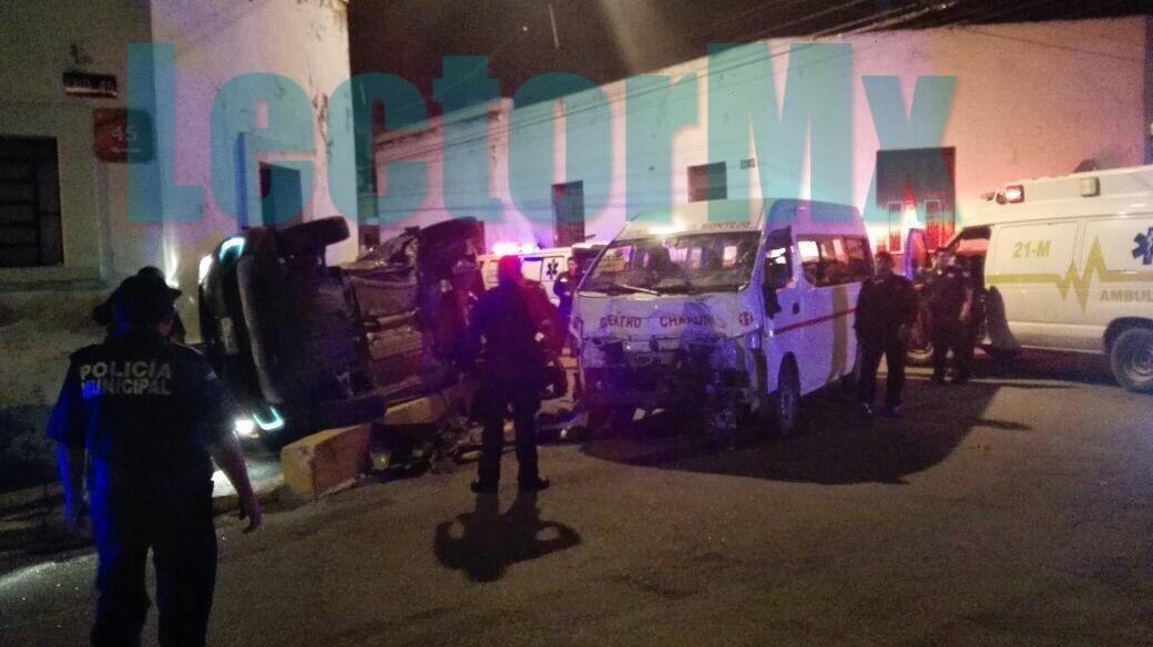 'Encontronazo' deja 12 heridos en centro de Mérida