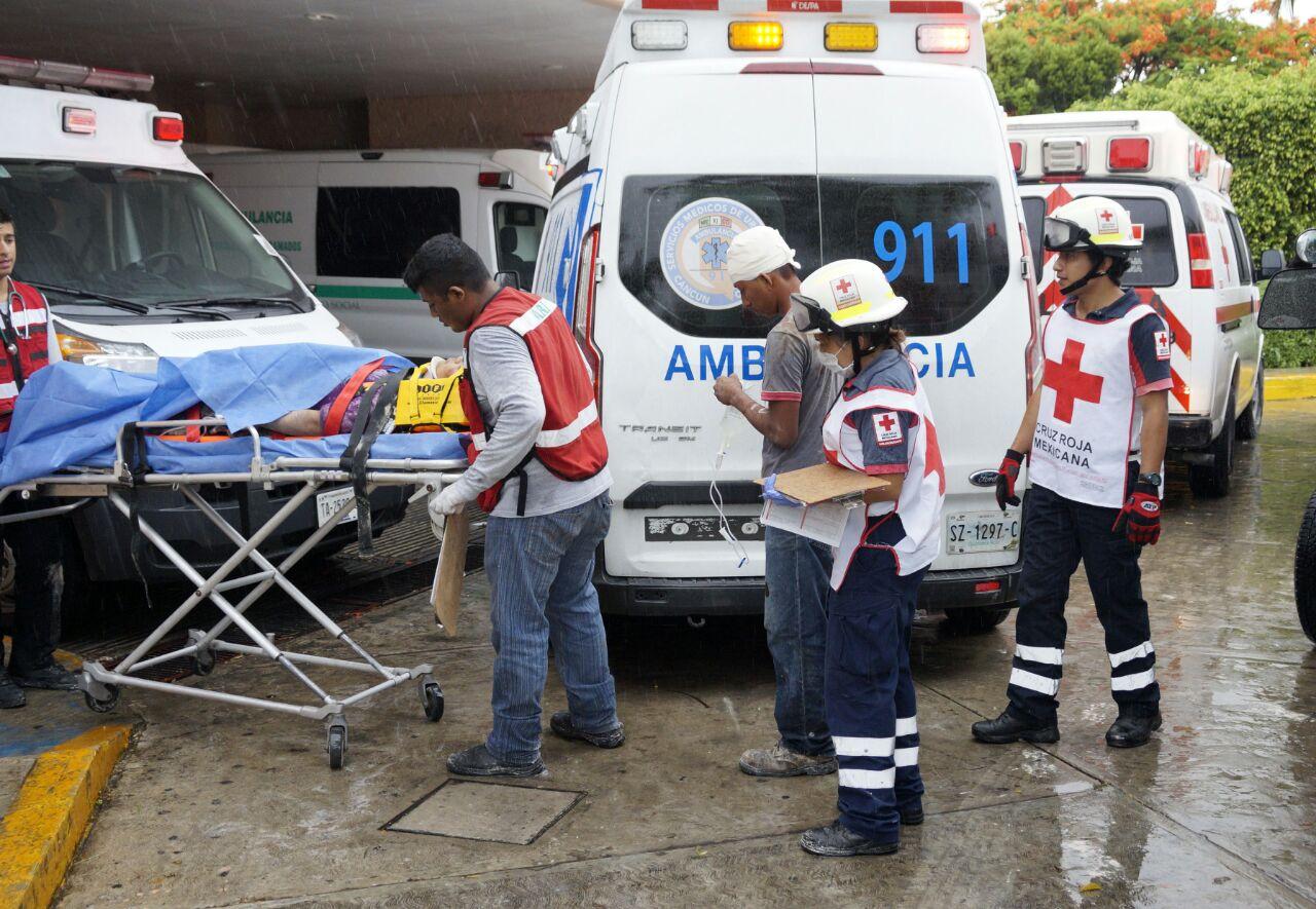 Heridos 9 por colapso en hotel Paladium, en construcción