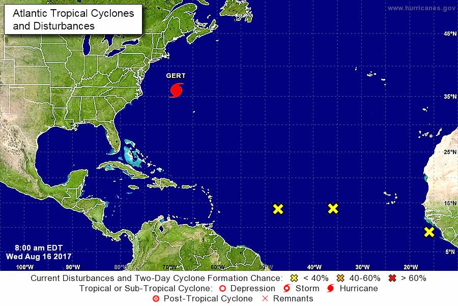 """""""Se mueven"""" varios sistemas tropicales en el Atlántico"""
